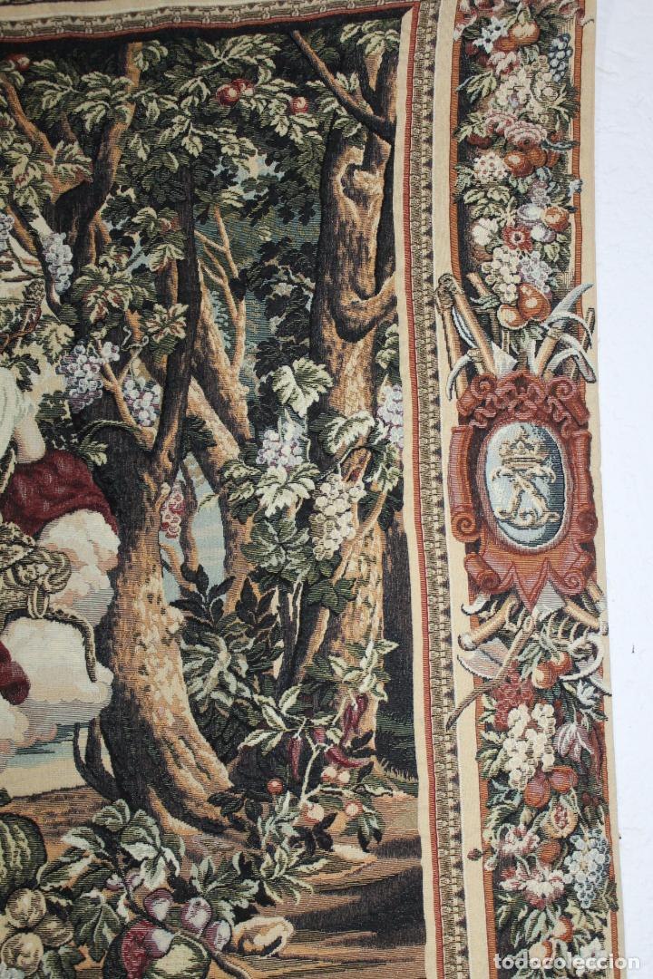 Antigüedades: TAPIZ EN JACQUARD DE ALGODÓN - APOLO Y JUNO SOBRE VERSALLES - OBRA FRANCESA - CIRCA 1940 - Foto 8 - 66174426