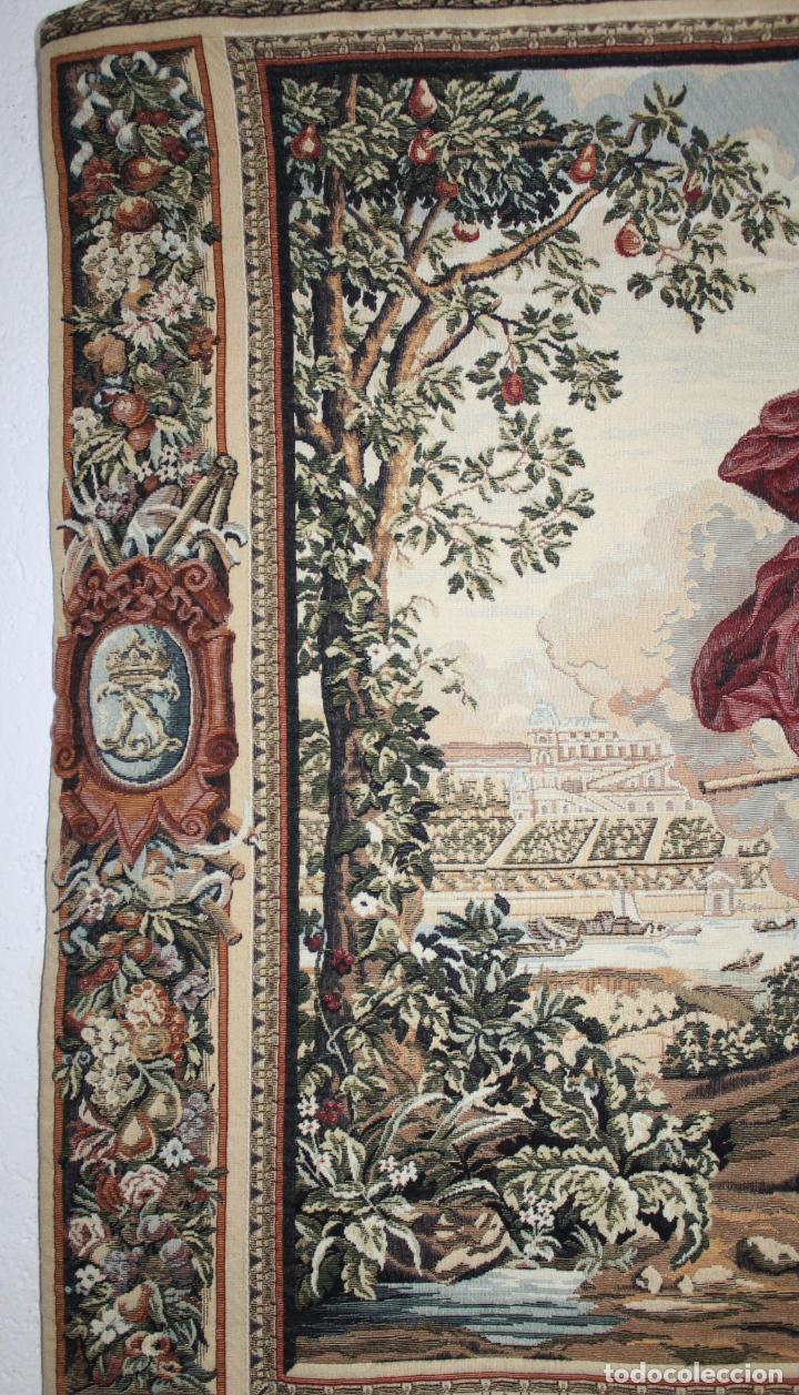 Antigüedades: TAPIZ EN JACQUARD DE ALGODÓN - APOLO Y JUNO SOBRE VERSALLES - OBRA FRANCESA - CIRCA 1940 - Foto 9 - 66174426