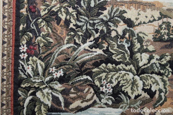 Antigüedades: TAPIZ EN JACQUARD DE ALGODÓN - APOLO Y JUNO SOBRE VERSALLES - OBRA FRANCESA - CIRCA 1940 - Foto 10 - 66174426