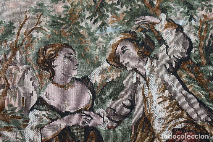 Antigüedades: TAPIZ EN JACQUARD DE ALGODÓN - ESCENA PASTORIL SIGUIENDO MODELOS ROCOCÓ FRANCESES - CIRCA 1950 - Foto 4 - 66174678