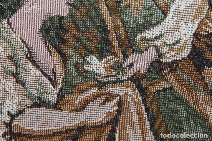 Antigüedades: TAPIZ EN JACQUARD DE ALGODÓN - ESCENA PASTORIL SIGUIENDO MODELOS ROCOCÓ FRANCESES - CIRCA 1950 - Foto 7 - 66174678