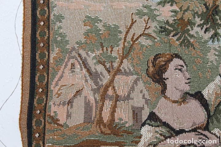 Antigüedades: TAPIZ EN JACQUARD DE ALGODÓN - ESCENA PASTORIL SIGUIENDO MODELOS ROCOCÓ FRANCESES - CIRCA 1950 - Foto 11 - 66174678