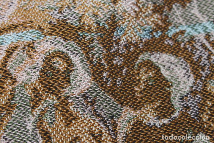 Antigüedades: TAPIZ EN JACQUARD DE ALGODÓN - ESCENA PASTORIL SIGUIENDO MODELOS ROCOCÓ FRANCESES - CIRCA 1950 - Foto 16 - 66174678