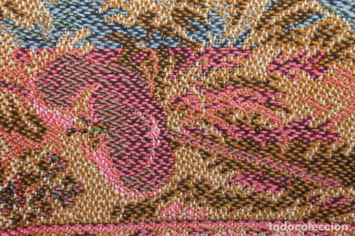 Antigüedades: TAPIZ EN JACQUARD DE ALGODÓN - ESCENA PASTORIL SIGUIENDO MODELOS ROCOCÓ FRANCESES - CIRCA 1950 - Foto 17 - 66174678