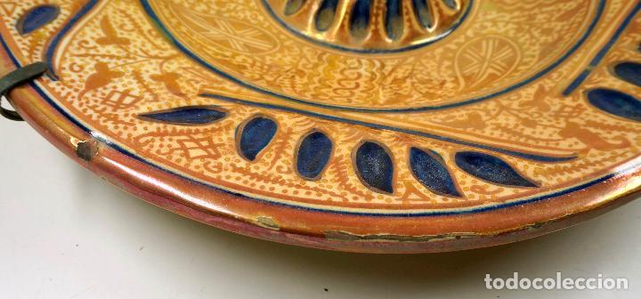 Antigüedades: PLATO DE REFLEJOS DE MANISES 39 CM. DE DIÁMETRO, VER FOTOS. - Foto 2 - 113648014