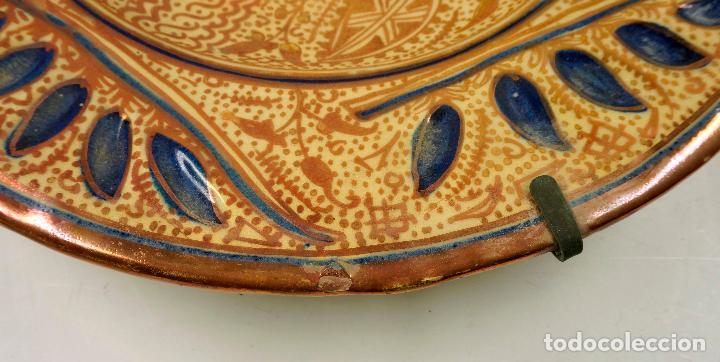 Antigüedades: PLATO DE REFLEJOS DE MANISES 39 CM. DE DIÁMETRO, VER FOTOS. - Foto 3 - 113648014