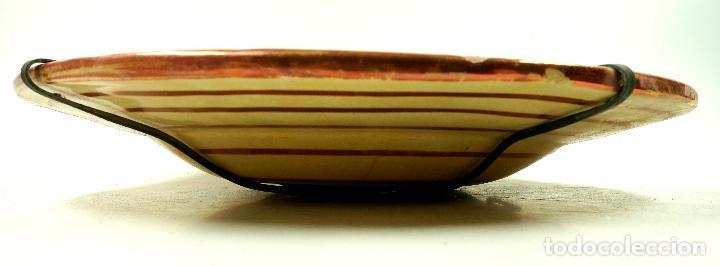 Antigüedades: PLATO DE REFLEJOS DE MANISES 39 CM. DE DIÁMETRO, VER FOTOS. - Foto 6 - 113648014