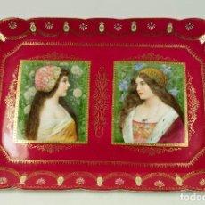 Antigüedades: GRAN FUENTE DE VIENA DE PORCELANA 34X51 CM.. Lote 66194686