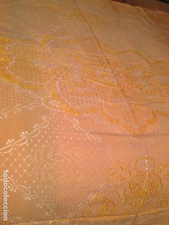 Antigüedades: Colcha adamascada matrimonio - Foto 2 - 66218026