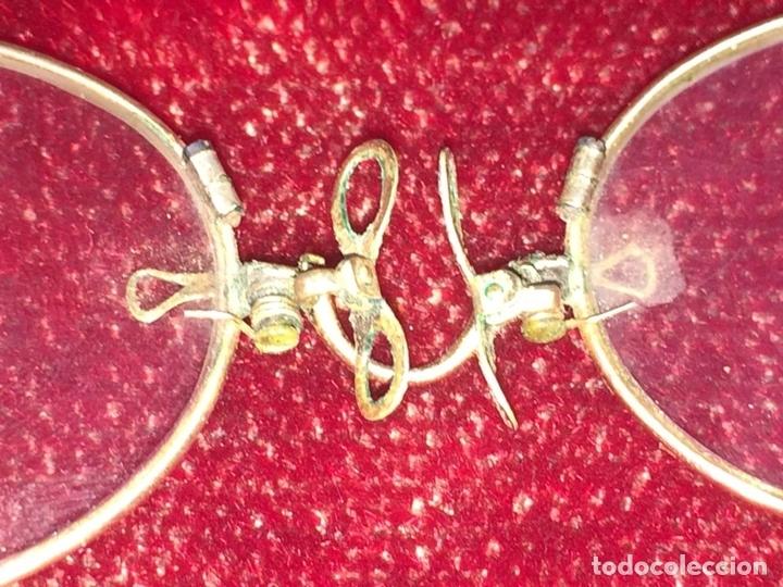 Antigüedades: QUEVEDOS. ORO BAJO. ESTUCHE ORIGINAL EN ALUMINIO. GRANADA. ESPAÑA. XIX-XX - Foto 4 - 107438598