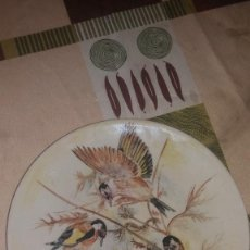 Antigüedades: PRECIOSO PLATO PINTADO A MANO,MOTIVO PAJAROS.CERAMIQUE VERDON J. OPPLIGER. 1997. Lote 66258366