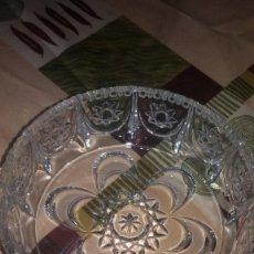 Antigüedades: PRECIOSO CENTRO DE MESA DE CRISTAL DE BOHEMIA TALLADO.. Lote 66266422