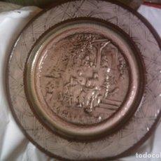 Antigüedades: ESPECTACULAR Y ENORME PLATO DE CERAMICA DE MANISES, ANTIGUO CON RELIEVES 41CM.. Lote 66285062