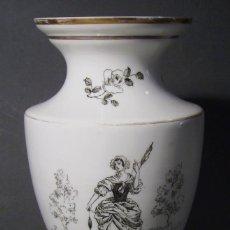 Antigüedades: JARRÓN DE OPALINA BLANCA . Lote 66302530