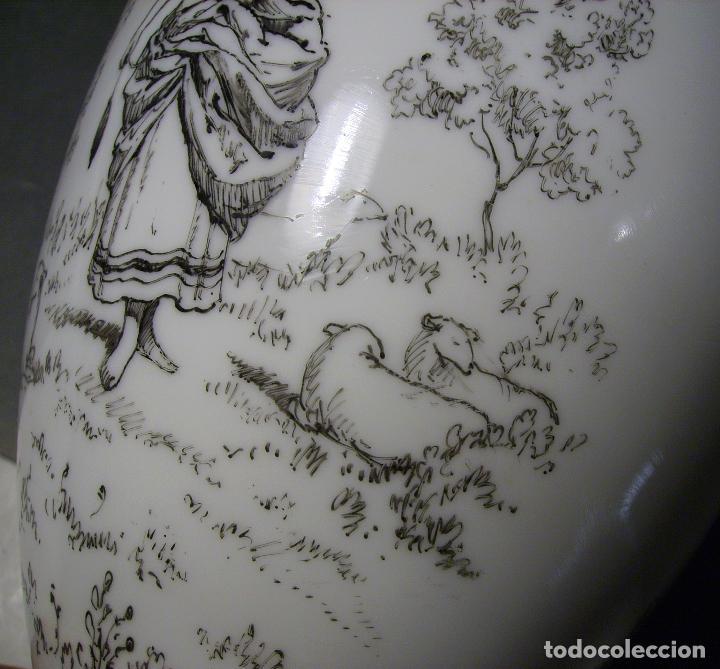 Antigüedades: JARRÓN DE OPALINA BLANCA - Foto 14 - 66302530