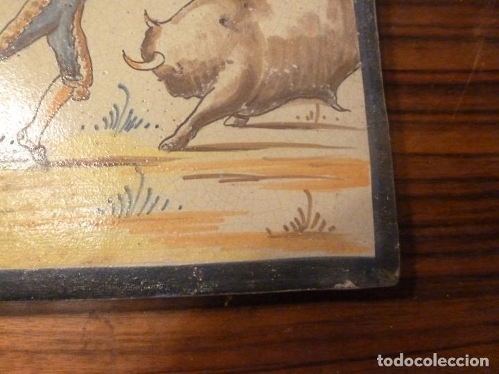 Antigüedades: AZULEJO TORO BANDERILLAS - Foto 4 - 66311990
