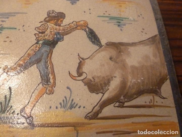Antigüedades: AZULEJO TORO BANDERILLAS - Foto 7 - 66311990