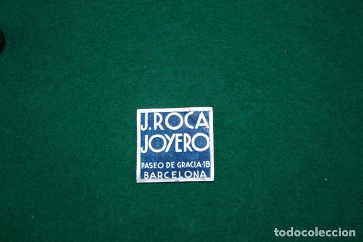 Antigüedades: ESCRIBANÍA. JOYERO J. ROCA. PLATA DE LEY Y MÁRMOL. BARCELONA. CIRCA 1940. - Foto 8 - 66414434
