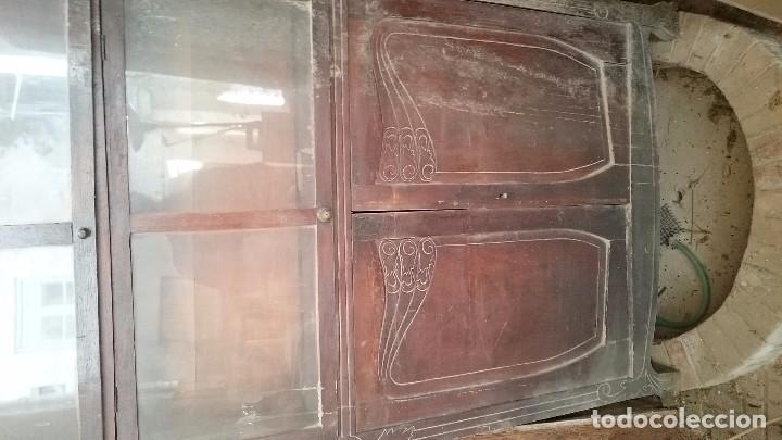 Antigüedades: Armario farmacia siglo XIX antigüedad para restaurar 310 cm altura x 100cm - Foto 4 - 66445174