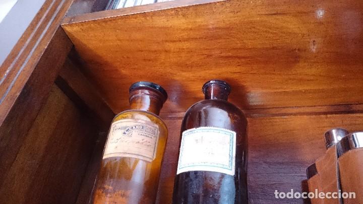 Antigüedades: Armario farmacia siglo XIX antigüedad para restaurar 310 cm altura x 100cm - Foto 10 - 66445174