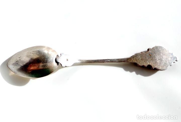 Antigüedades: CUCHARILLA DE COLECCIÓN PLATA Y ESMALTE RECUERDO DE DINANT - Foto 3 - 66465774