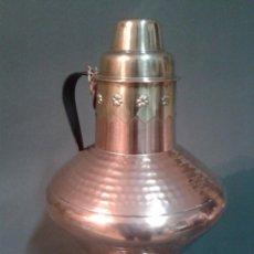 Antigüedades: RECIPIENTE DE COBRE Y LATÓN . Lote 66473154