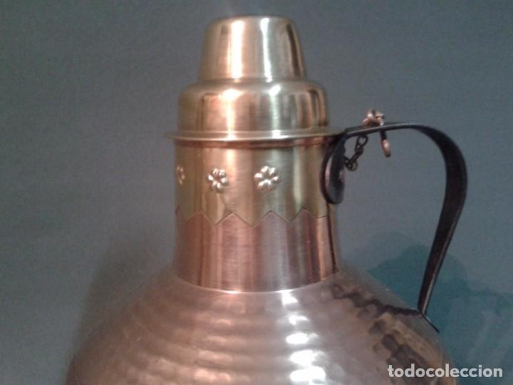 Antigüedades: RECIPIENTE DE COBRE Y LATÓN - Foto 3 - 66473154
