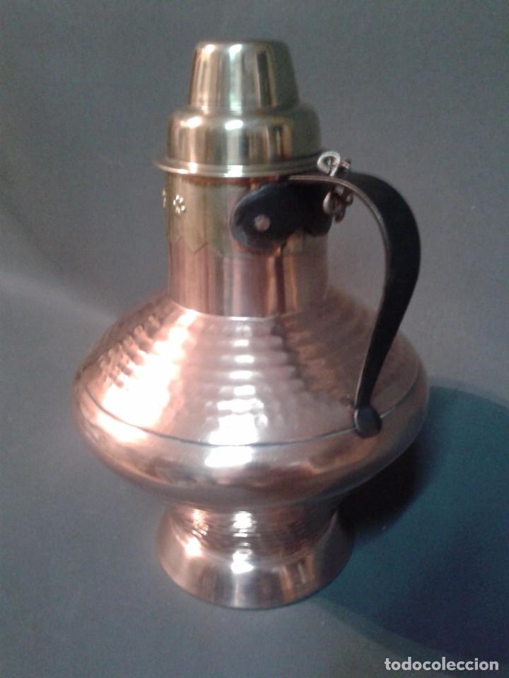 Antigüedades: RECIPIENTE DE COBRE Y LATÓN - Foto 4 - 66473154