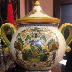 Antigüedades: PRECIOSO TIBOR DE CERAMICA DECORADO.. Lote 66484058