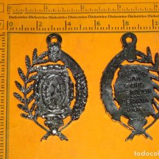 Antigüedades: GRAN MEDALLÓN RELIGIOSO. HERMANDAD DE SAN ISIDRO LABRADOR. PERIANA, MÁLAGA, AXARQUIA. Lote 66489398