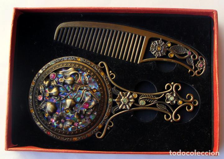 Antigüedades: JUEGO DE ESPEJO Y PEINE - Foto 2 - 66494430