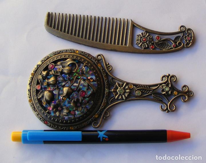 Antigüedades: JUEGO DE ESPEJO Y PEINE - Foto 3 - 66494430