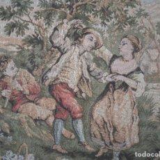 Antigüedades: TAPIZ DE ESCENA GOYESCA ENMARCADO. Lote 66495702