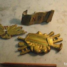Antigüedades: ELEMENTOS VARIADO EN MADERA POLICROMADA. Lote 66516342