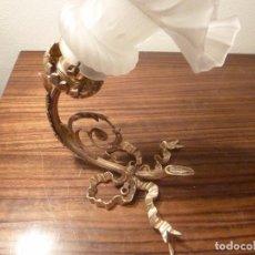 Antigüedades: APLIQUE DE BRONCE CON TULIPA. Lote 66520734