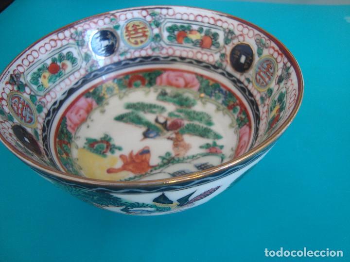 BOL PORCELA DE MACAO, CUENCO DE PORCELANA DE MACAO (Antigüedades - Porcelanas y Cerámicas - China)