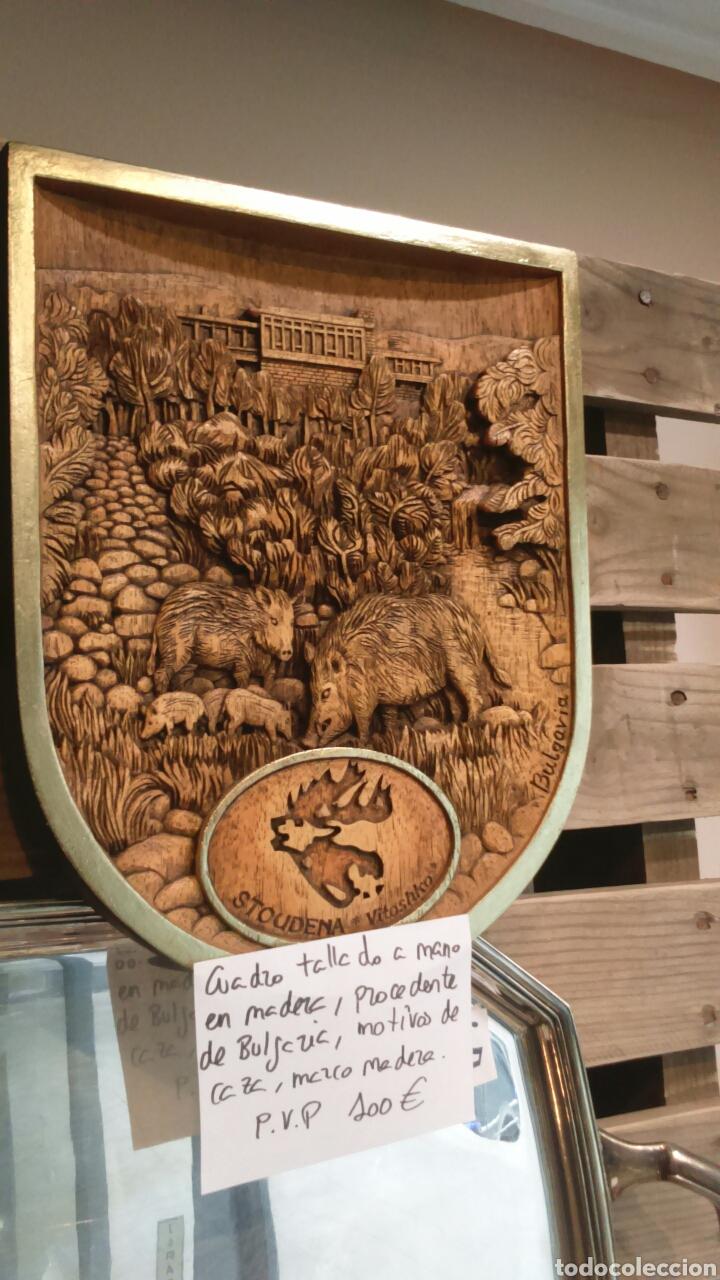 cuadro tallado madera en relieve caza bulgaria - Comprar Trofeos de ...