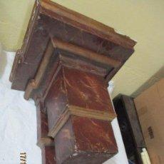 Antigüedades: MENSULA POLICROMADA DE FINALES DEL SIGLO XIX. Lote 66567822