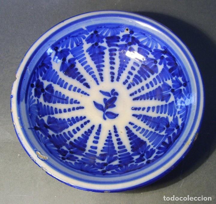 PLATO CERÁMICA DE TALAVERA XVIII - XIX (Antigüedades - Porcelanas y Cerámicas - Talavera)