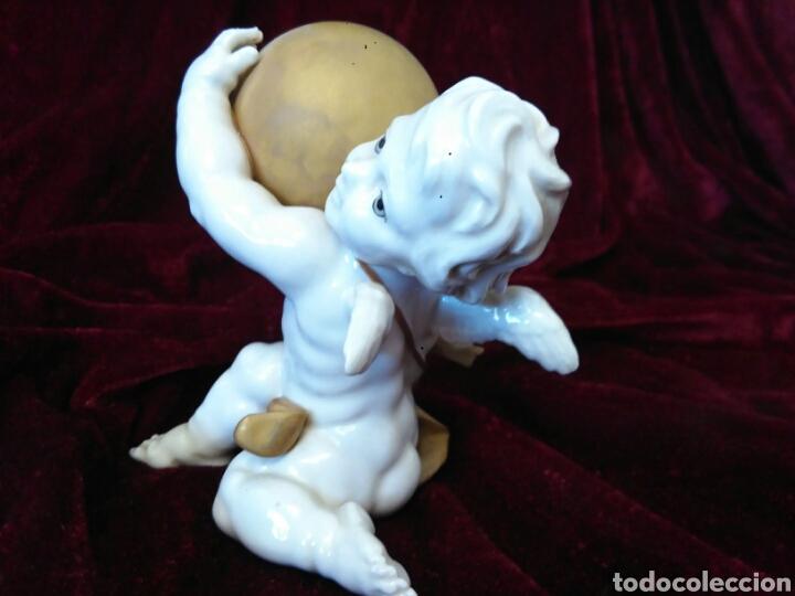 Antigüedades: porcelana algora angel - Foto 2 - 66755423