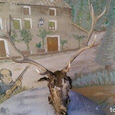 Antigüedades: TROFEO CIERVO 10 PUNTAS, PROCEDE DE MONTERIA. Lote 66764702