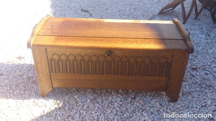 Antiguo baul zapatero de madera noble maciza ro comprar ba les antiguos en todocoleccion - Baul zapatero ...