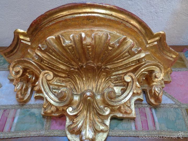 Antigüedades: MENSULA DORADA S.XVII - Foto 13 - 66793270