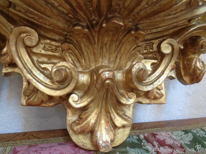 Antigüedades: MENSULA DORADA S.XVII - Foto 14 - 66793270