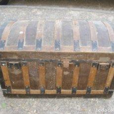 Antigüedades: ANTIGUO BAÚL CASTELLANO S. XIX. Lote 66793786