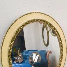 Antigüedades: ESPEJO OVALADO MARCO DE MADERA 51 X 61 CMS. Lote 66798070