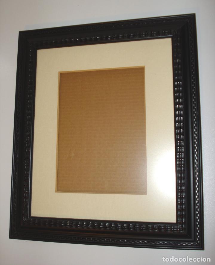 antiguo marco de madera labrada color negro - Comprar Marcos ...