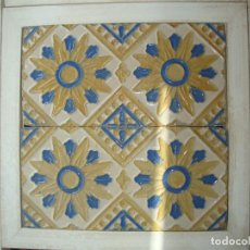 Antigüedades: PAREJA DE AZULEJOS DE TRIANA SIGLO XIX. Lote 66861922