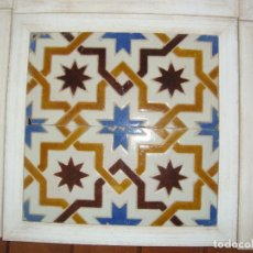 Antigüedades: PAREJA DE AZULEJOS ENMARCADAS SIGLO XIX. Lote 66863038