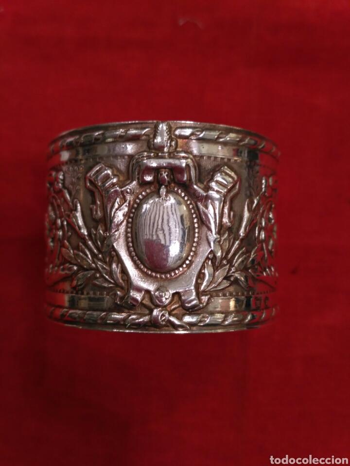 Antigüedades: Anillo de servilleta plateado - Foto 2 - 66866973